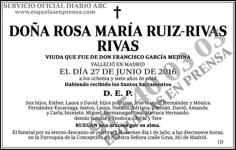 Rosa María Ruiz-Rivas Rivas